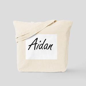 Aidan Artistic Name Design Tote Bag