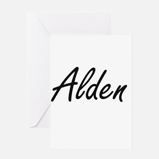 Alden Artistic Name Design Greeting Cards