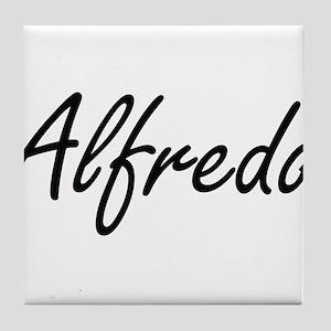 Alfredo Artistic Name Design Tile Coaster