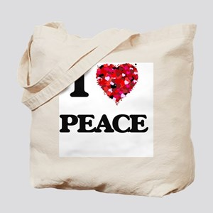 I Love Peace Tote Bag