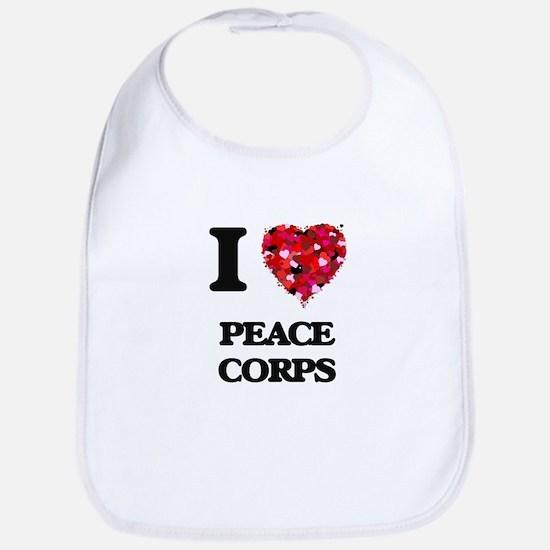 I Love Peace Corps Bib