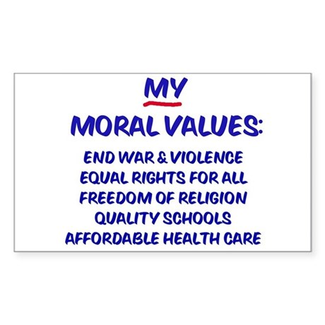 My Moral Values Rectangle Sticker