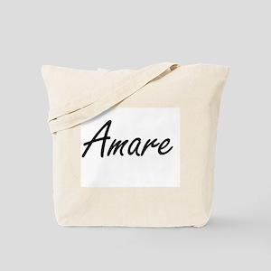 Amare Artistic Name Design Tote Bag