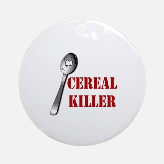Cute Cereal killer Round Ornament