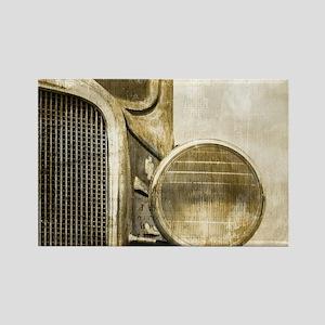 rusty vintage farm truck Magnets