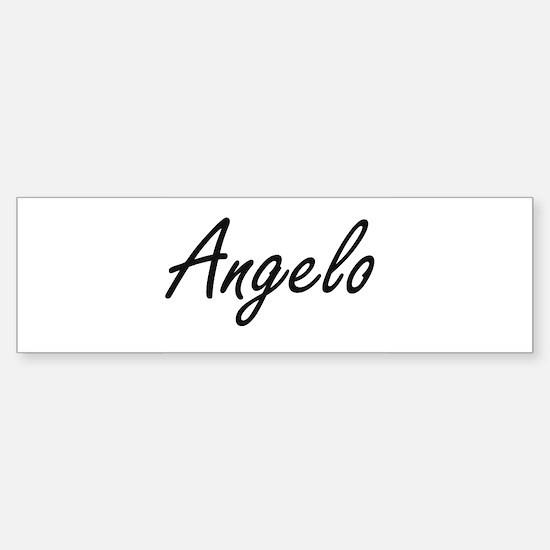 Angelo Artistic Name Design Bumper Bumper Bumper Sticker