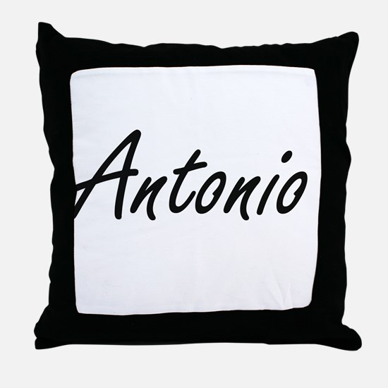 Antonio Artistic Name Design Throw Pillow