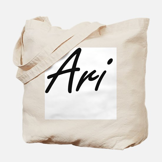 Ari Artistic Name Design Tote Bag