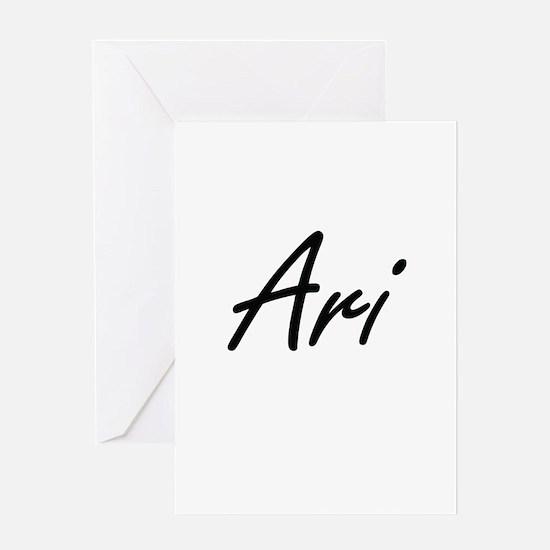 Ari Artistic Name Design Greeting Cards