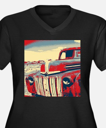 cool retro old truck Plus Size T-Shirt