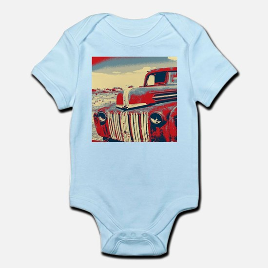 cool retro old truck Body Suit