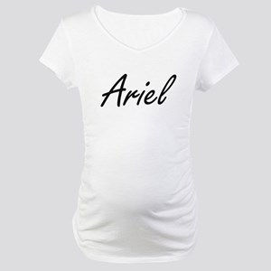 Ariel Artistic Name Design Maternity T-Shirt