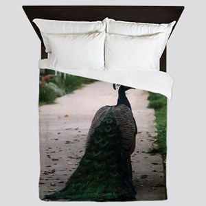Peacock Path Queen Duvet