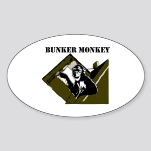 Bunker Monkey Sticker (Oval)
