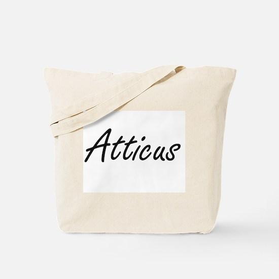 Atticus Artistic Name Design Tote Bag