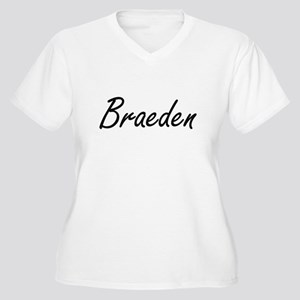 Braeden Artistic Name Design Plus Size T-Shirt