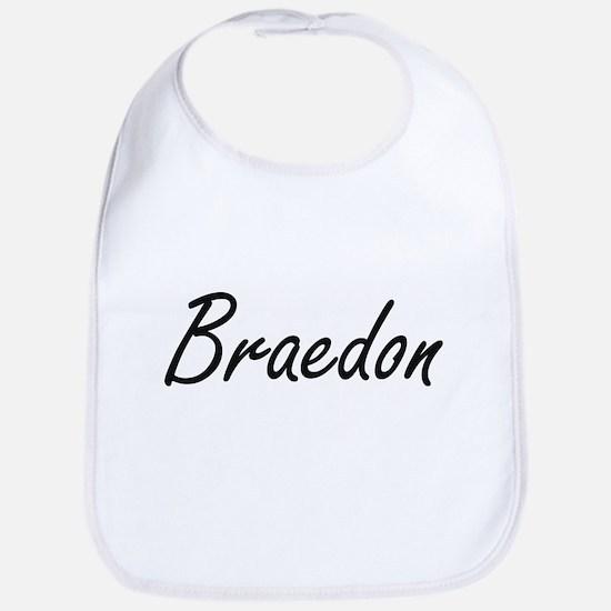 Braedon Artistic Name Design Bib