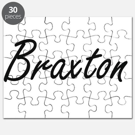 Braxton Artistic Name Design Puzzle