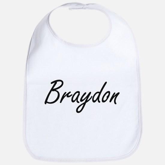 Braydon Artistic Name Design Bib