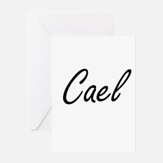 Cael Artistic Name Design Greeting Cards