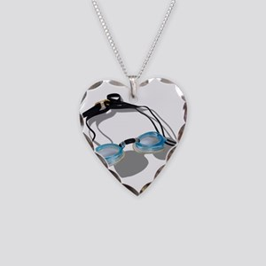 SwimmingGoggles091210 Necklace Heart Charm