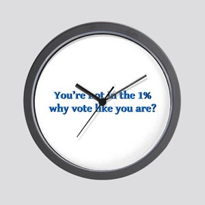 You're not in the 1%, why vote like you Wall Clock