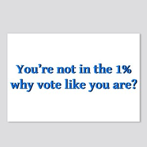 You're not in the 1%, why Postcards (Package of 8)