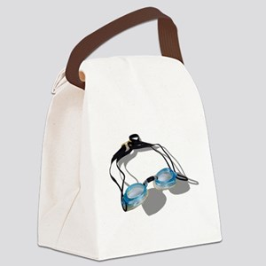 SwimmingGoggles091210 Canvas Lunch Bag