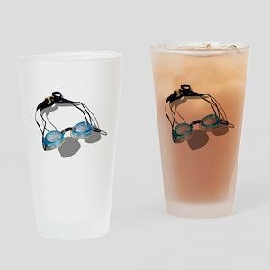SwimmingGoggles091210 Drinking Glass