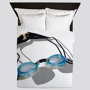 SwimmingGoggles091210 Queen Duvet