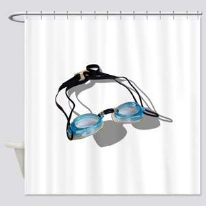 SwimmingGoggles091210 Shower Curtain