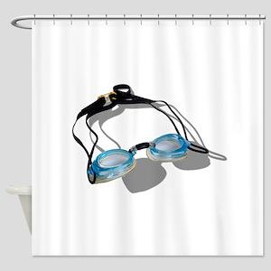 SwimmingGoggles091210 Shower Curtain