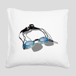 SwimmingGoggles091210 Square Canvas Pillow