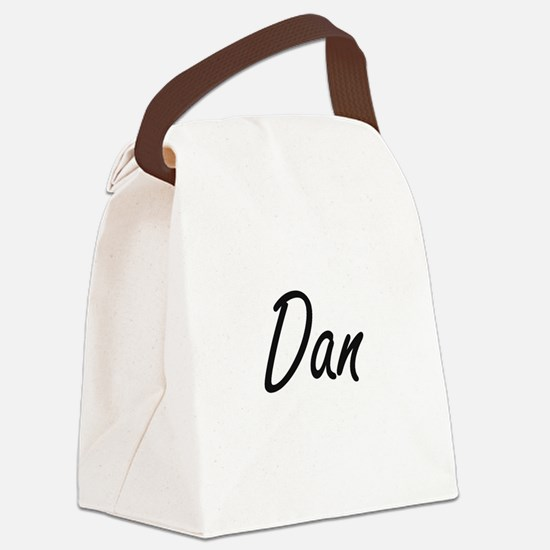 Dan Artistic Name Design Canvas Lunch Bag