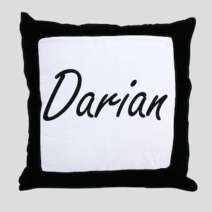 Darian Artistic Name Design Throw Pillow