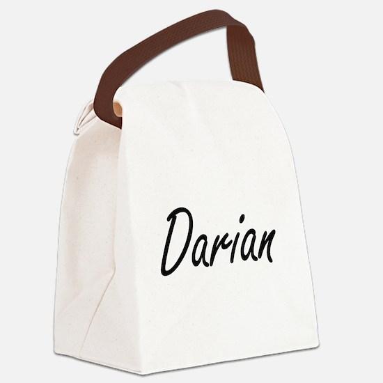 Darian Artistic Name Design Canvas Lunch Bag