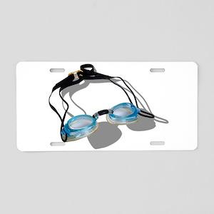 SwimmingGoggles091210 Aluminum License Plate