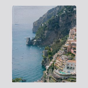 Amalfi Coastline Throw Blanket