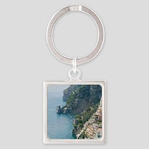 Amalfi Coastline Square Keychain