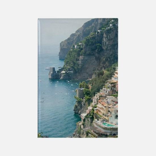 Amalfi Coastline Rectangle Magnet