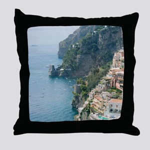 Amalfi Coastline Throw Pillow