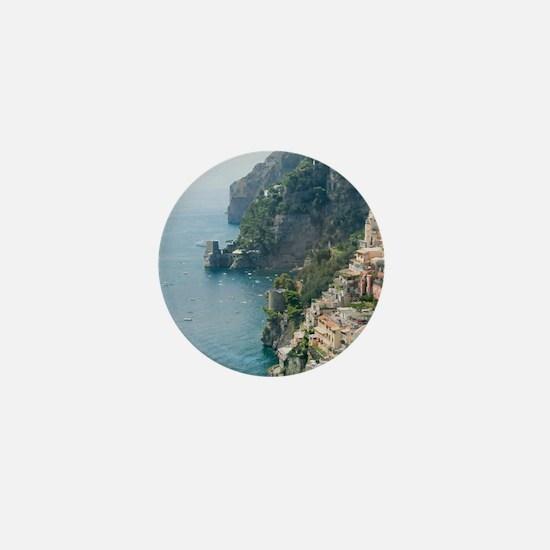 Amalfi Coastline Mini Button