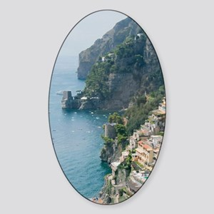 Amalfi Coastline Sticker (Oval)