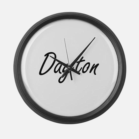 Dayton Artistic Name Design Large Wall Clock