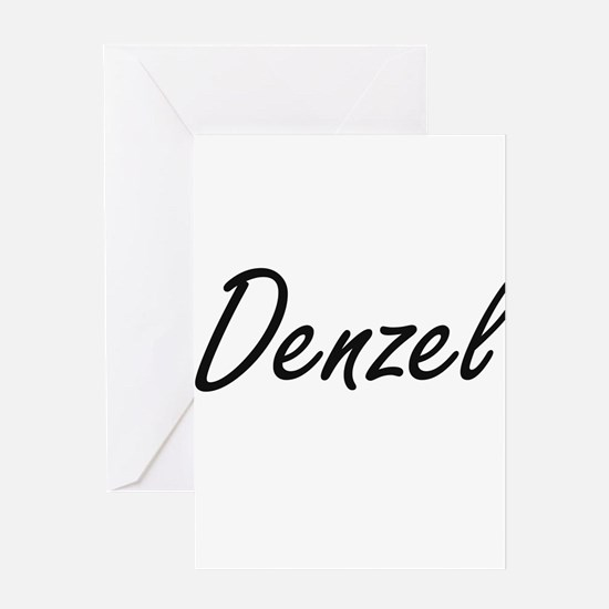 Denzel Artistic Name Design Greeting Cards