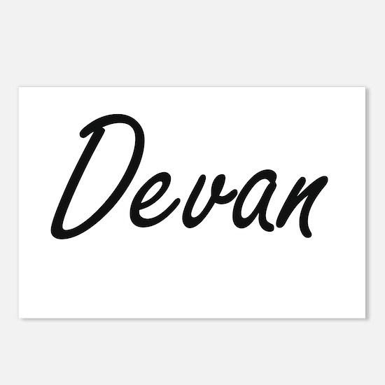 Devan Artistic Name Desig Postcards (Package of 8)