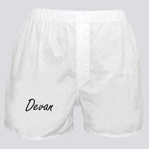 Devan Artistic Name Design Boxer Shorts