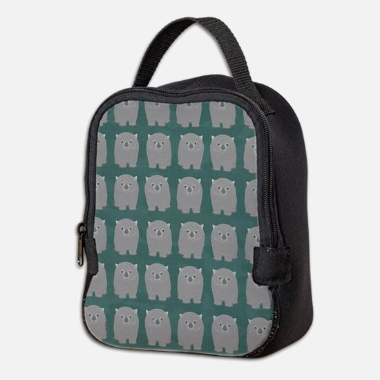 Wombat Neoprene Lunch Bag