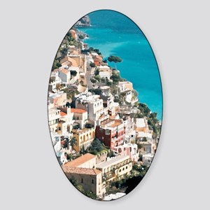 Amalfi Upside Sticker (Oval)