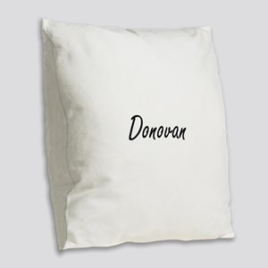 Donovan Artistic Name Design Burlap Throw Pillow